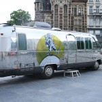 Airstream Argosy Mobile TV Studio for Manneken Pis show Belgium