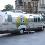 Airstream Argosy Mobile TV Studio for Manneken Pis show Belgium